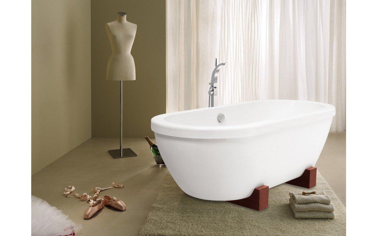 AdoreMe Wht Freestanding Light Weight Stone Bathtub by Aquatica web 1