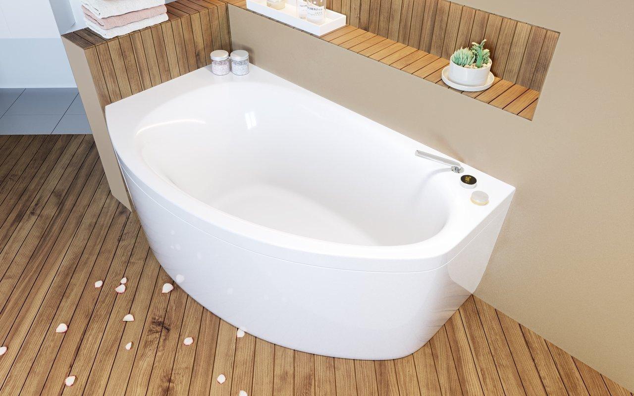 Aquatica Anette-C-R-Wht Corner Acrylic Bathtub picture № 0