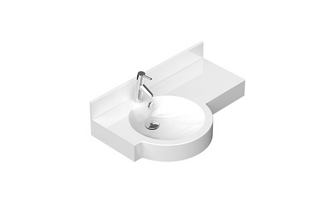 Aquatica Albi L Stone Wall Mounted Washbasin 01
