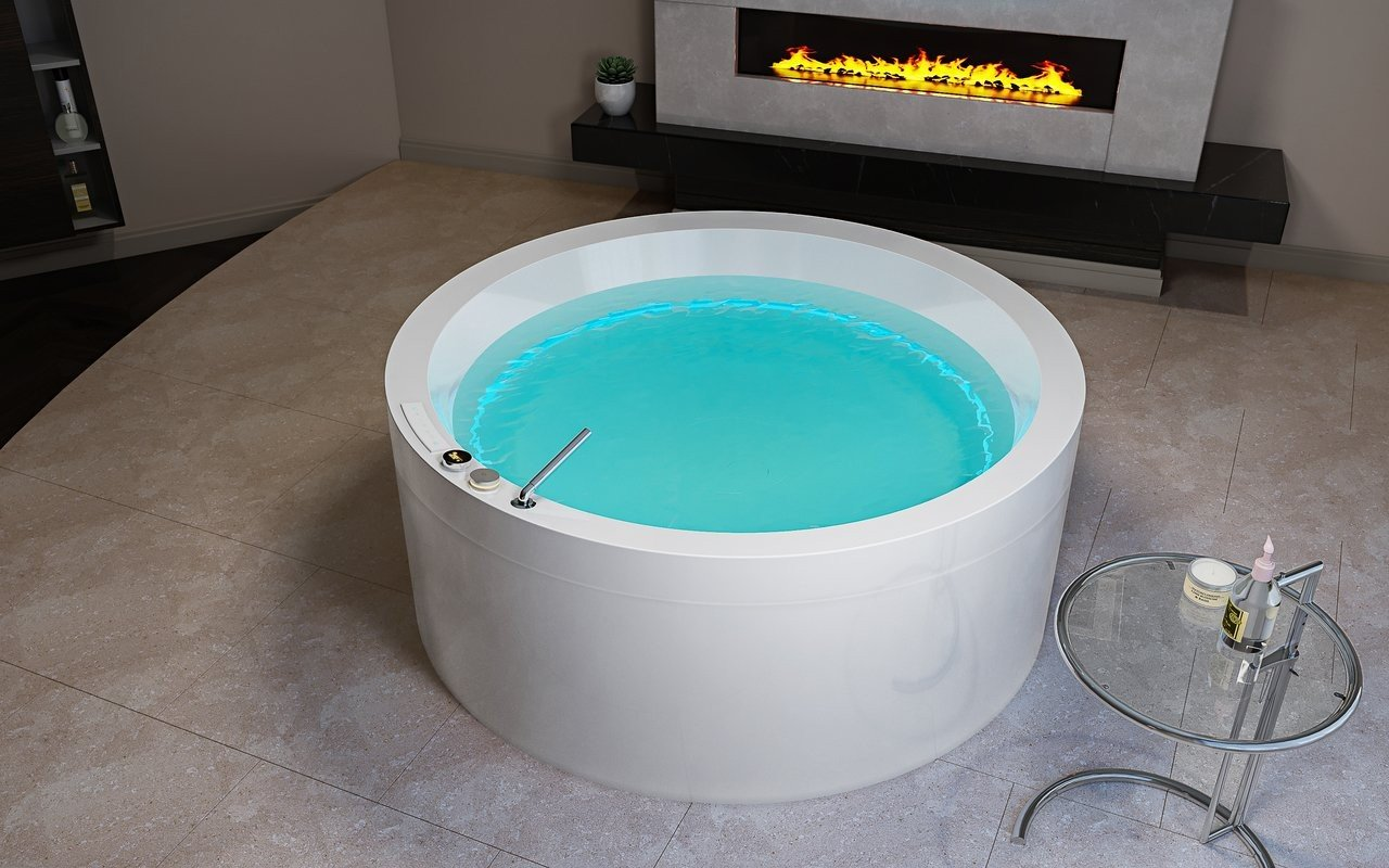 Aquatica Dream Rondo HydroRelax Jetted OutdoorIndoor Bathtub US version 240V 50 60Hz 03 (web)