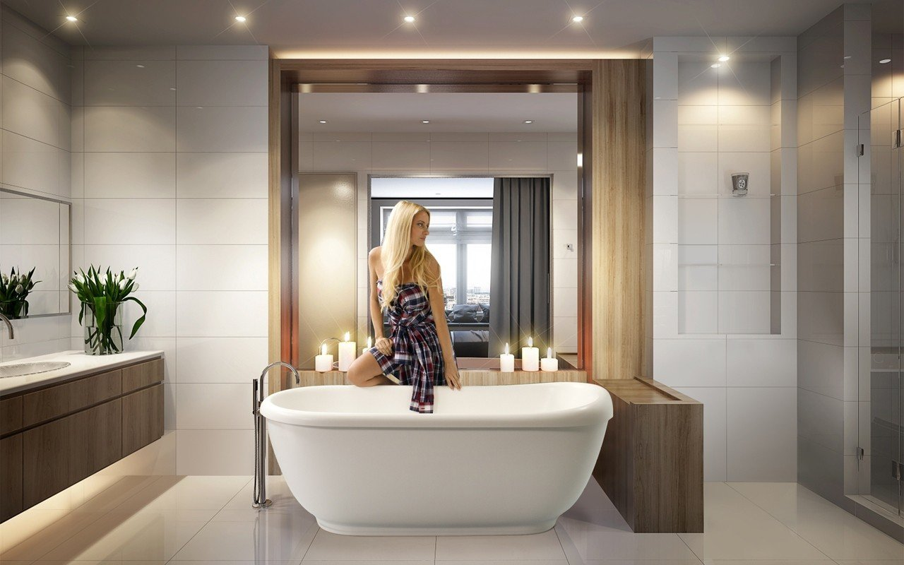 Aquatica Fido Wht Freestanding Solid Surface Bathtub web
