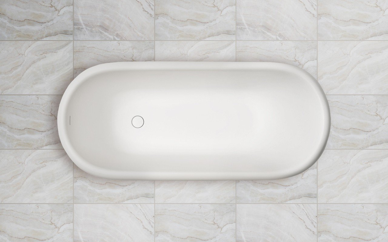 Aquatica Fido freestanding Solid Surface Bathtub top web