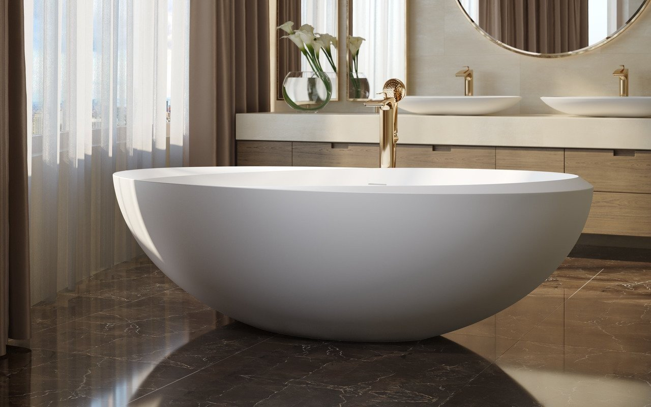 Aquatica Illusion-Wht Freestanding Solid Surface Bathtub picture № 0