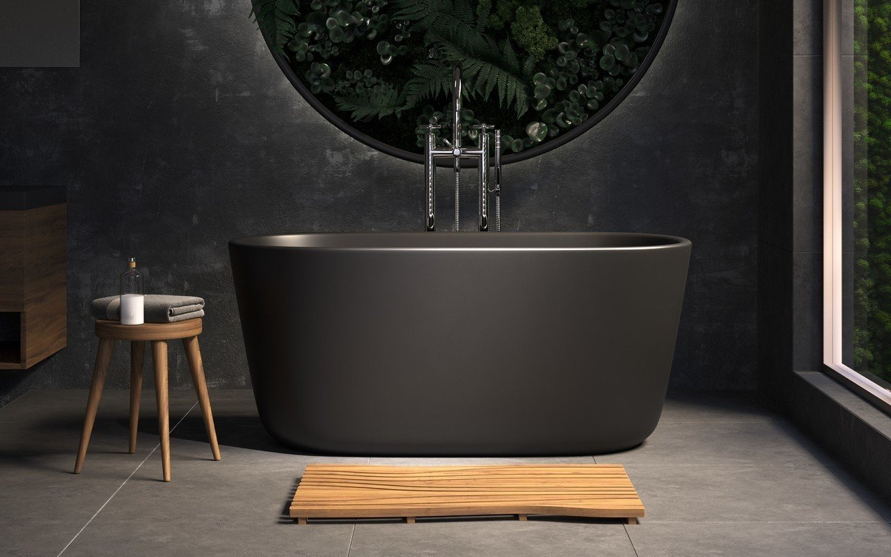 Aquatica Lullaby-Nano™ Graphite Black Freestanding Solid Surface Bathtub picture № 0