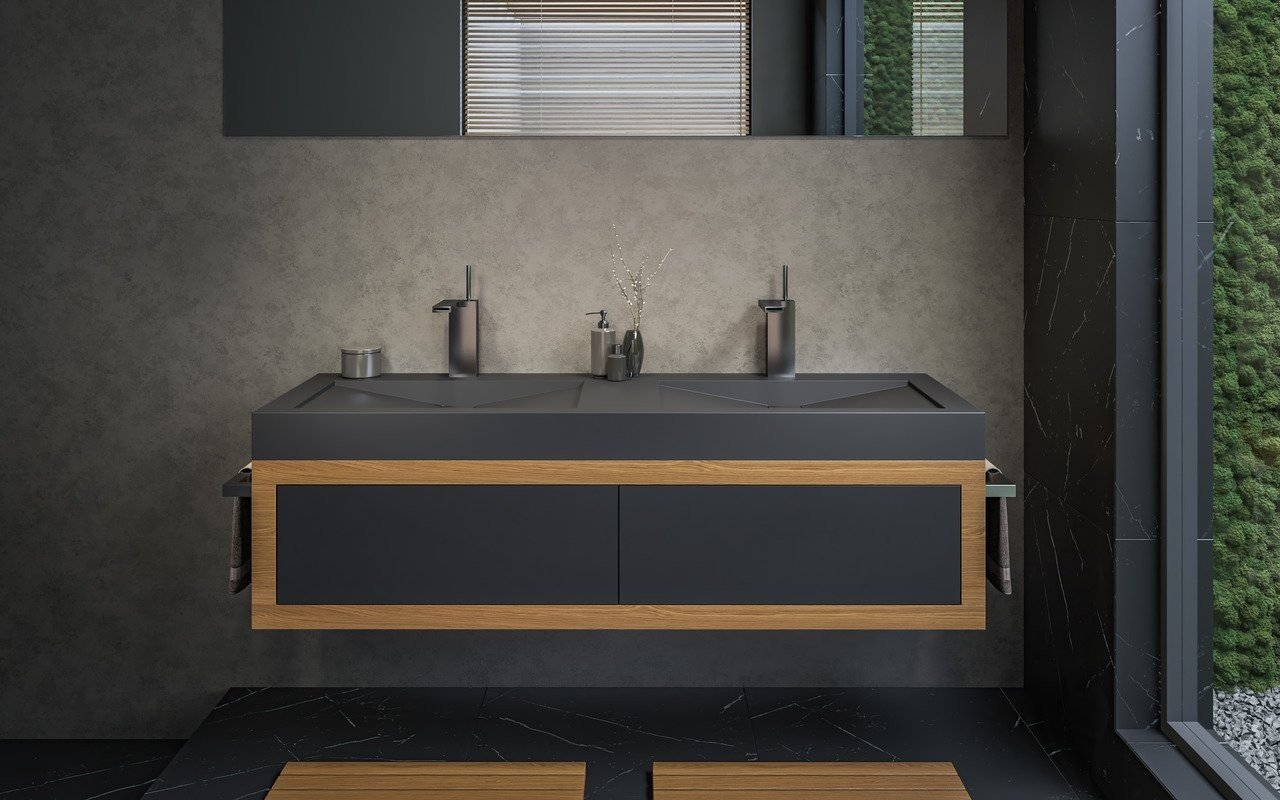 Aquatica Millennium-150-Blck Stone Bathroom Sink picture № 0
