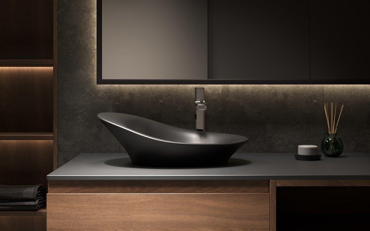 Aquatica Nanomorph-Blck Stone Bathroom Vessel Sink picture № 0