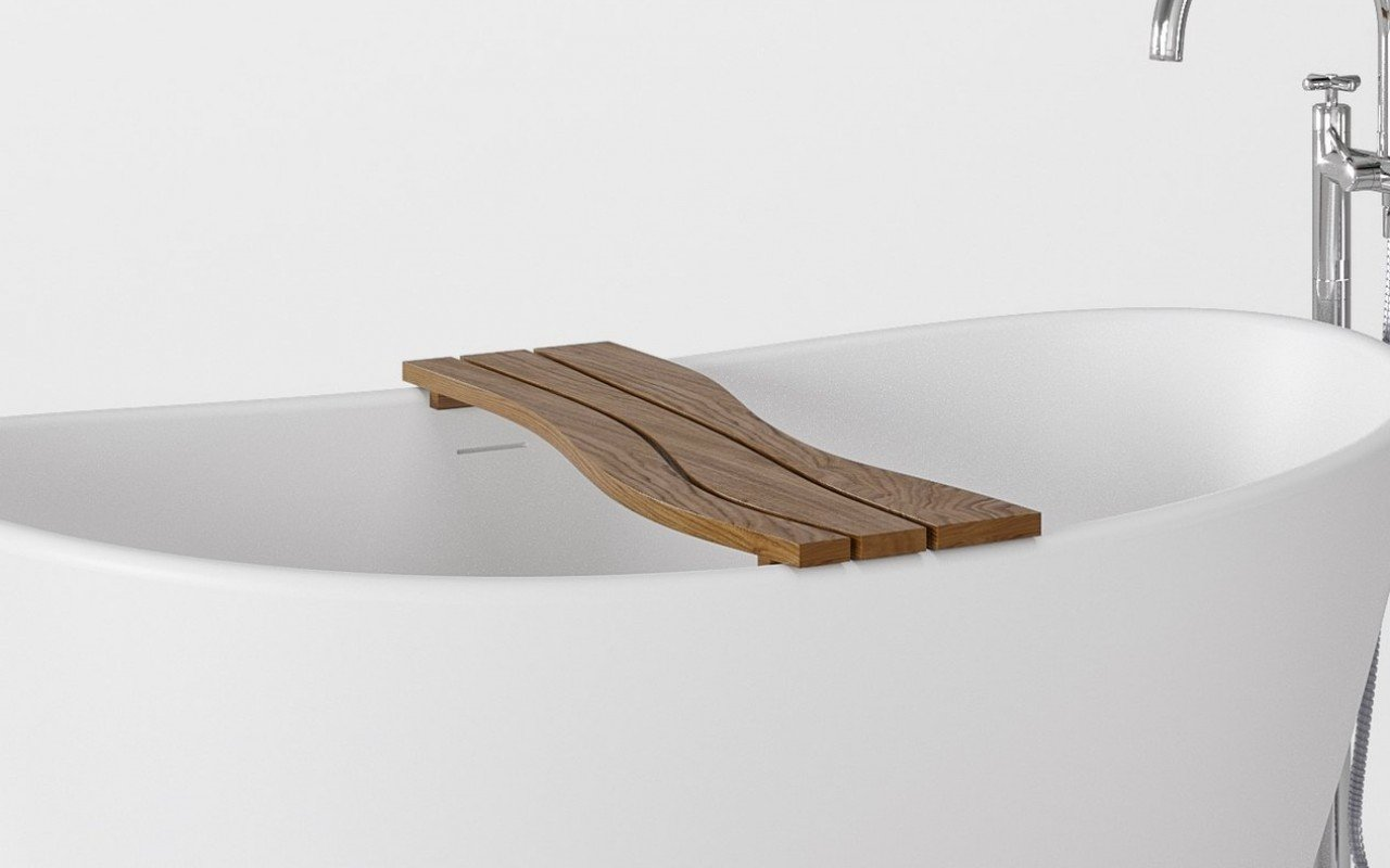 Aquatica Onde Waterproof Teak Wood Bathtub Tray 04 (web)