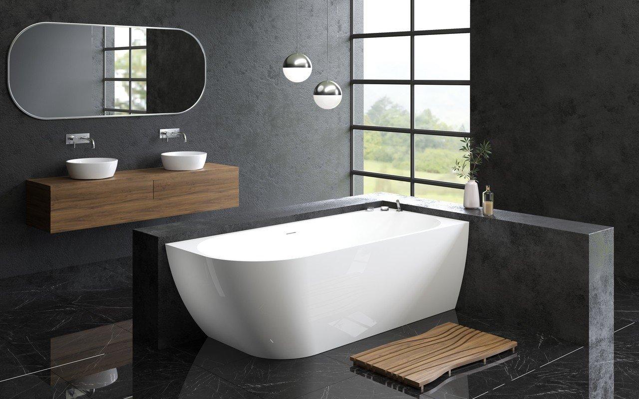 Aquatica Purescape 118-L-Wht Corner Acrylic Bathtub picture № 0