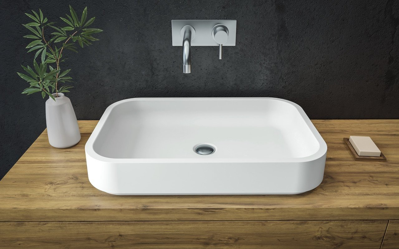 Aquatica Solace-A-Wht Rectangular Stone Bathroom Vessel Sink picture № 0