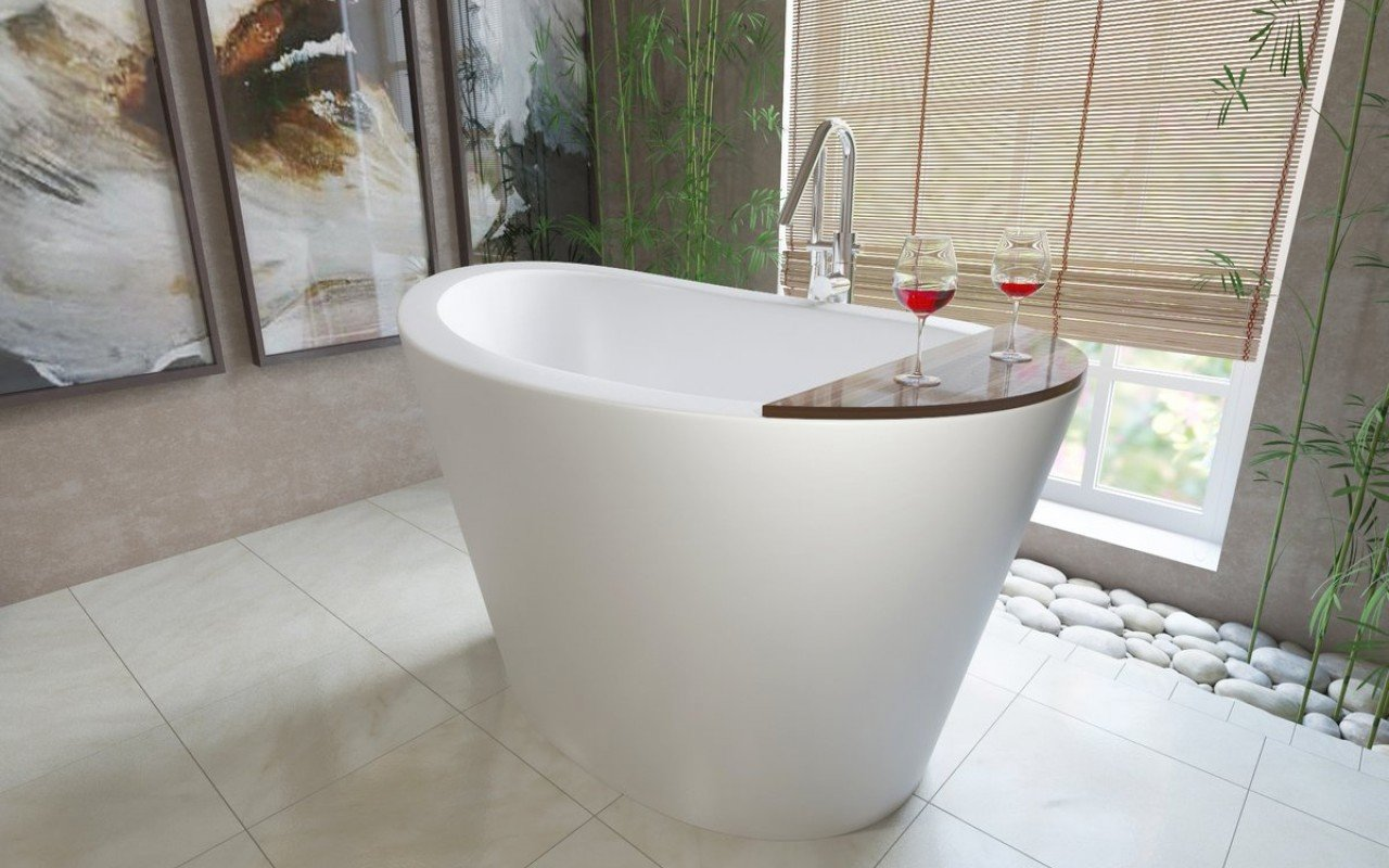 Aquatica True Ofuro Freestanding Stone Japanese Soaking Bathtub
