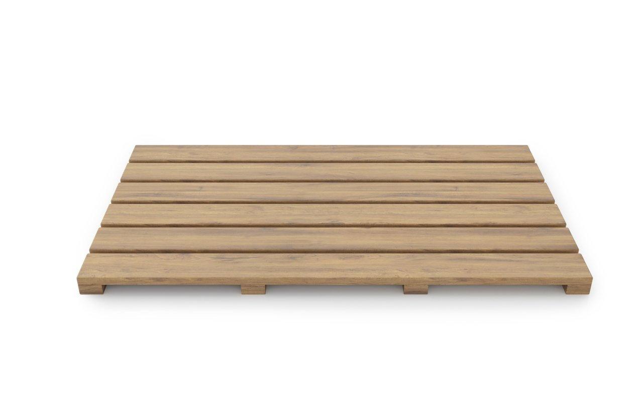 """Aquatica Universal 33.5"""" Waterproof Teak Wood Bath Shower Floor Mat picture № 0"""