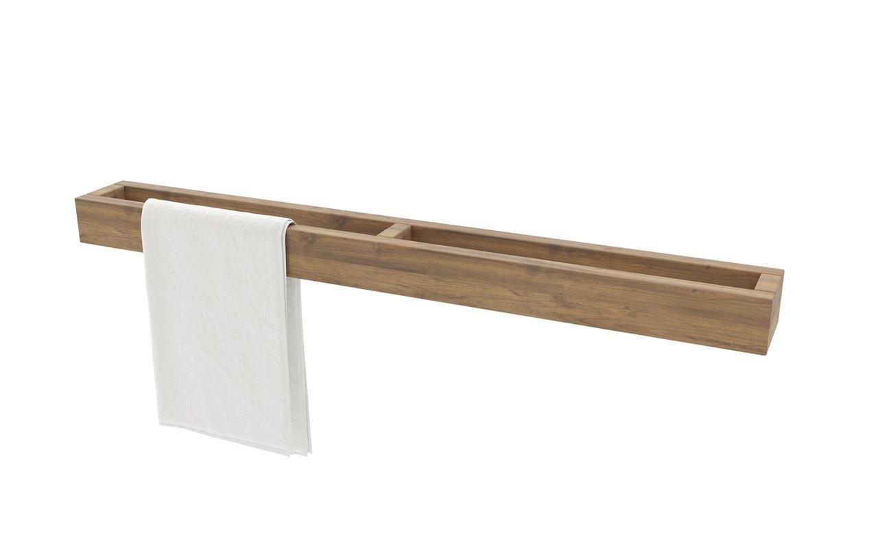 """Aquatica Universal 32"""" Waterproof Wall Mounted Teak Wood Towel Rack picture № 0"""