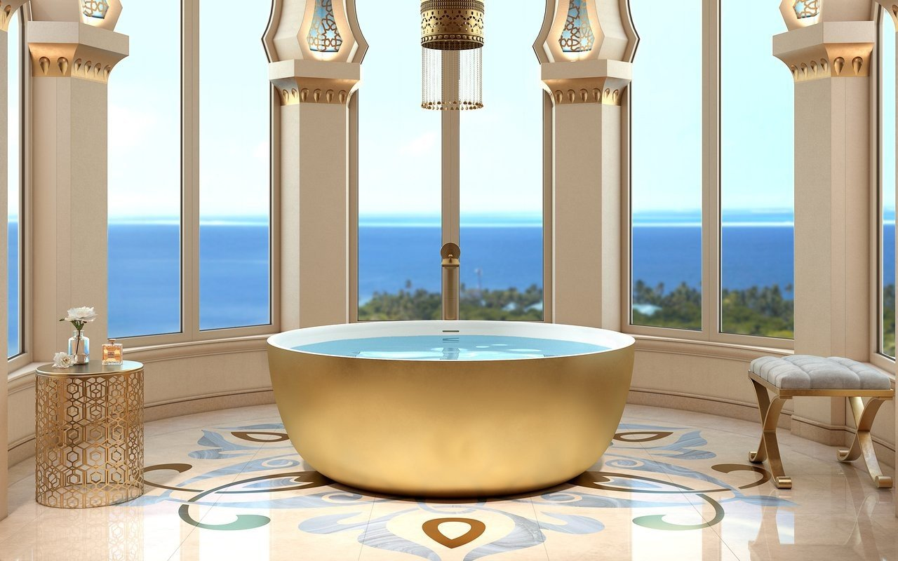 Aquatica adelina yellow gold wht round freestanding solid surface bathtub 01 (web)