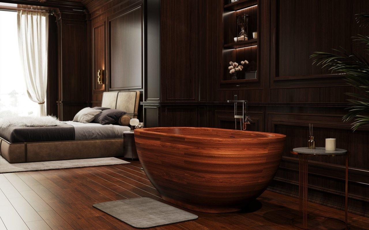 Aquatica Karolina 2 Freestanding Wooden Bathtub picture № 0