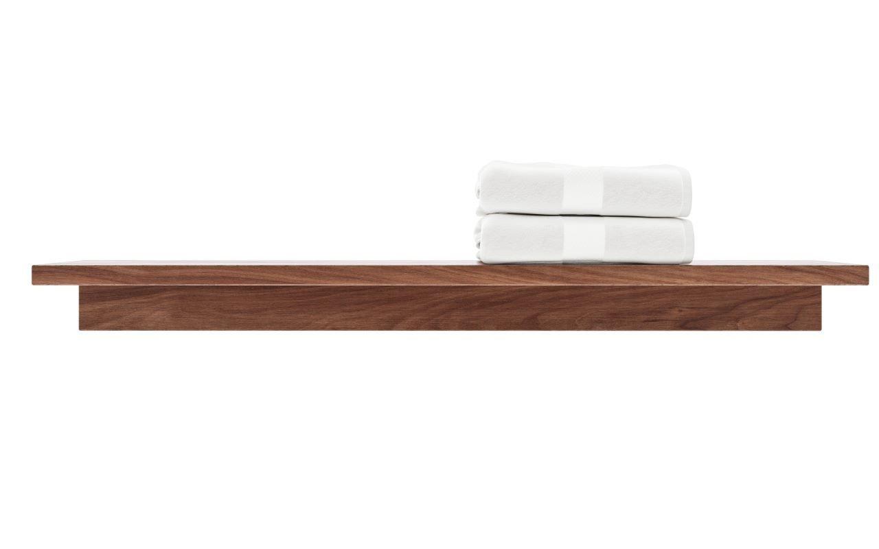 Aquatica Universal 32 Waterproof Wall Mounted Teak Wood Shelf0