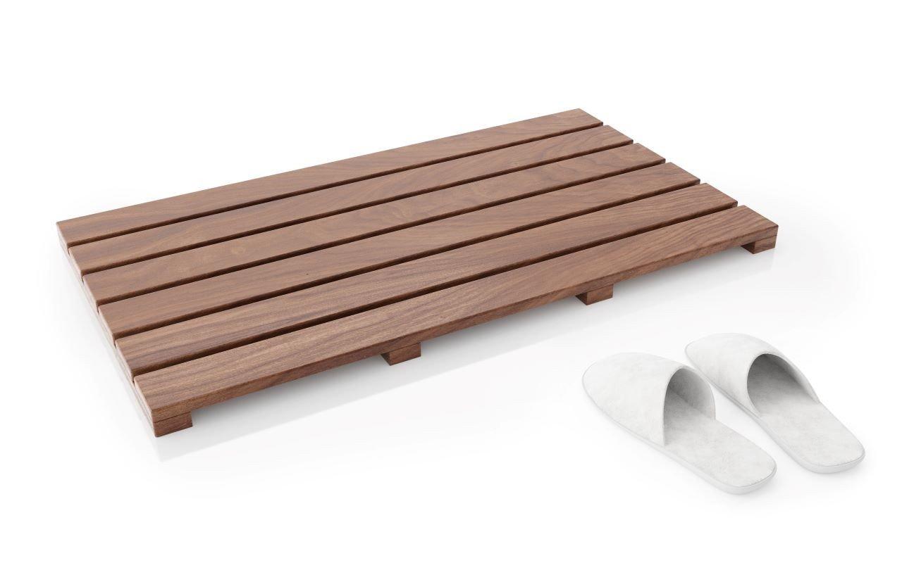 Aquatica Universal 33.5 Waterproof American Walnut Wood Bath Shower Floor Mat01