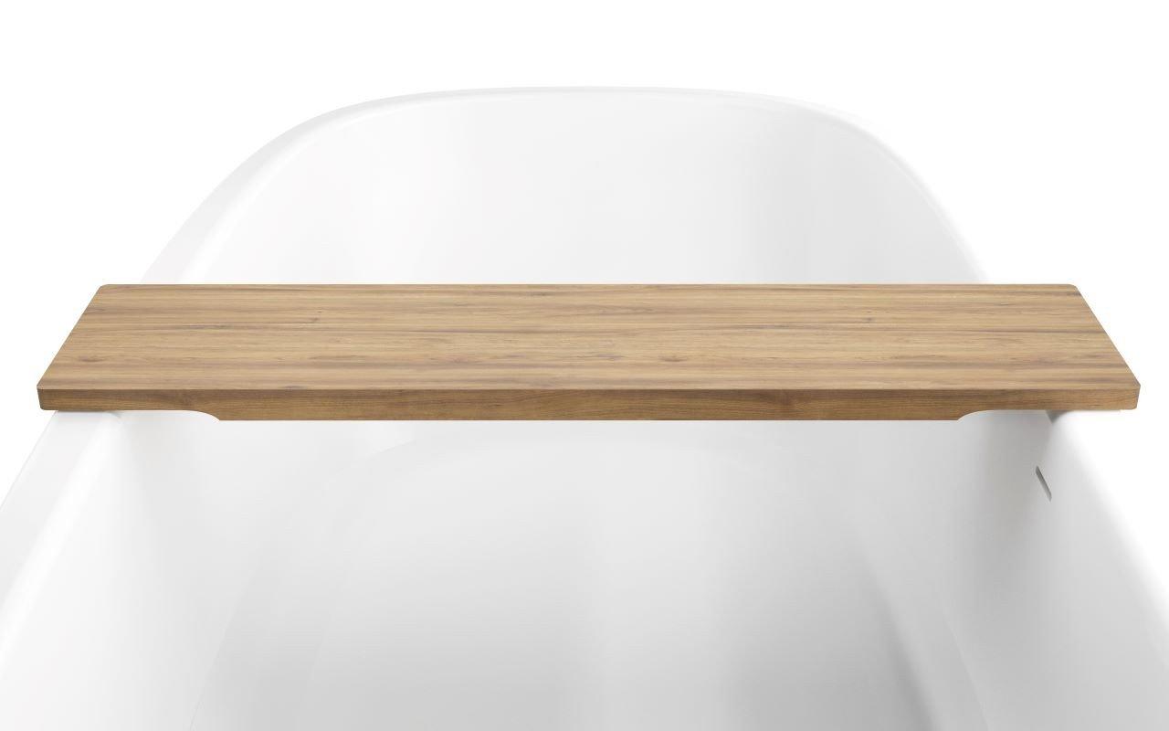 Aquatica Universal 36.25 Waterproof Teak Wood Bathtub Tray02web