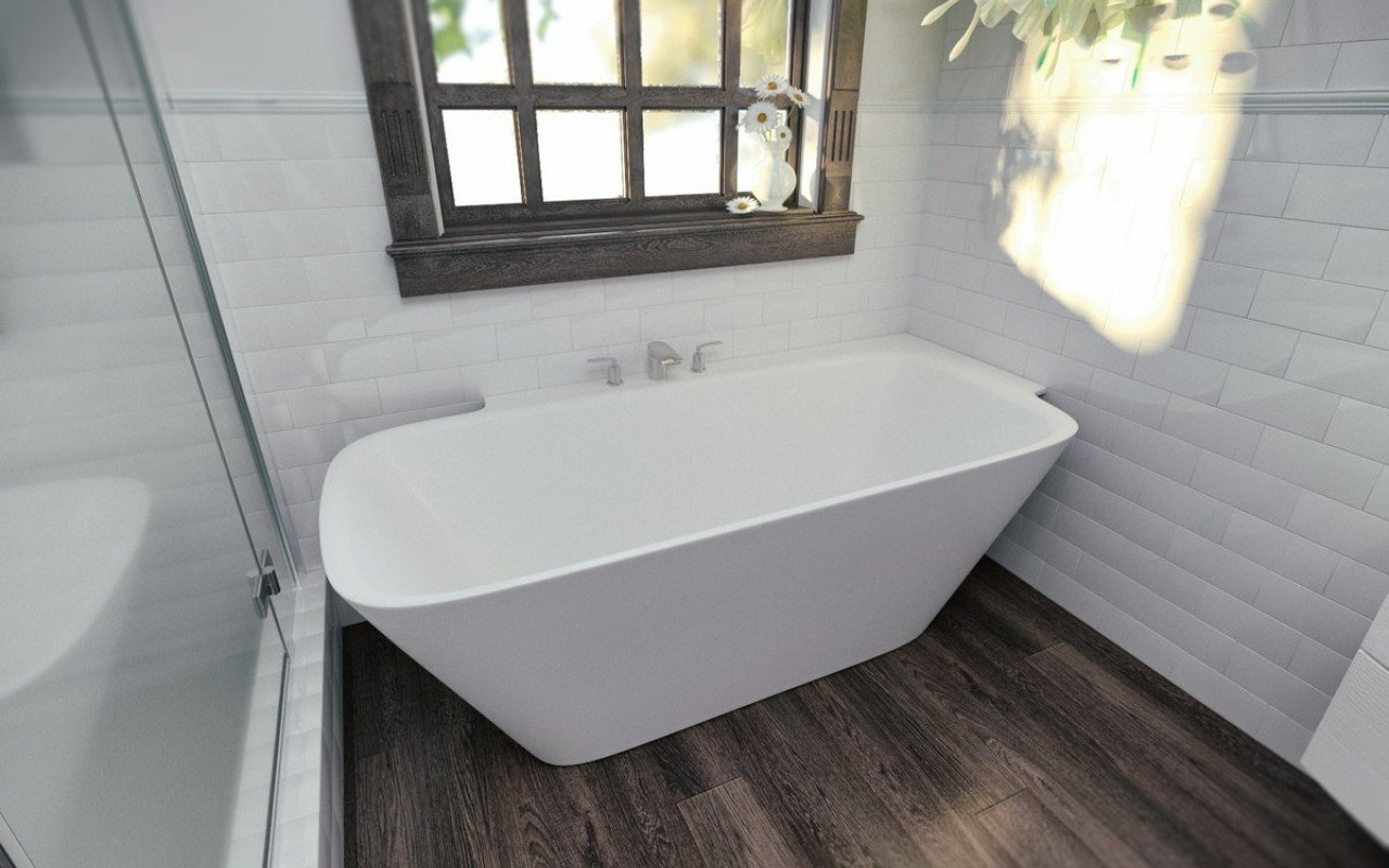 Aquatica Arabella-L-Wht™ Large Corner Solid Surface Bathtub picture № 0