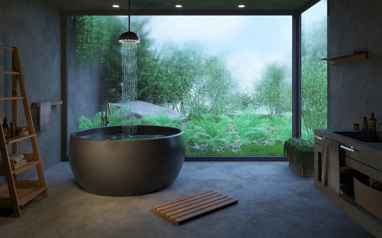 Aquatica Aura Mini Black Round Freestanding Solid Surface Bathtub picture № 0