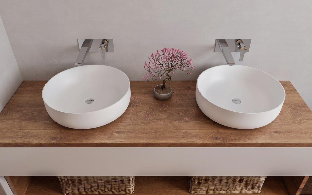 Aquatica Aurora-Wht Round Stone Bathroom Vessel Sink picture № 0