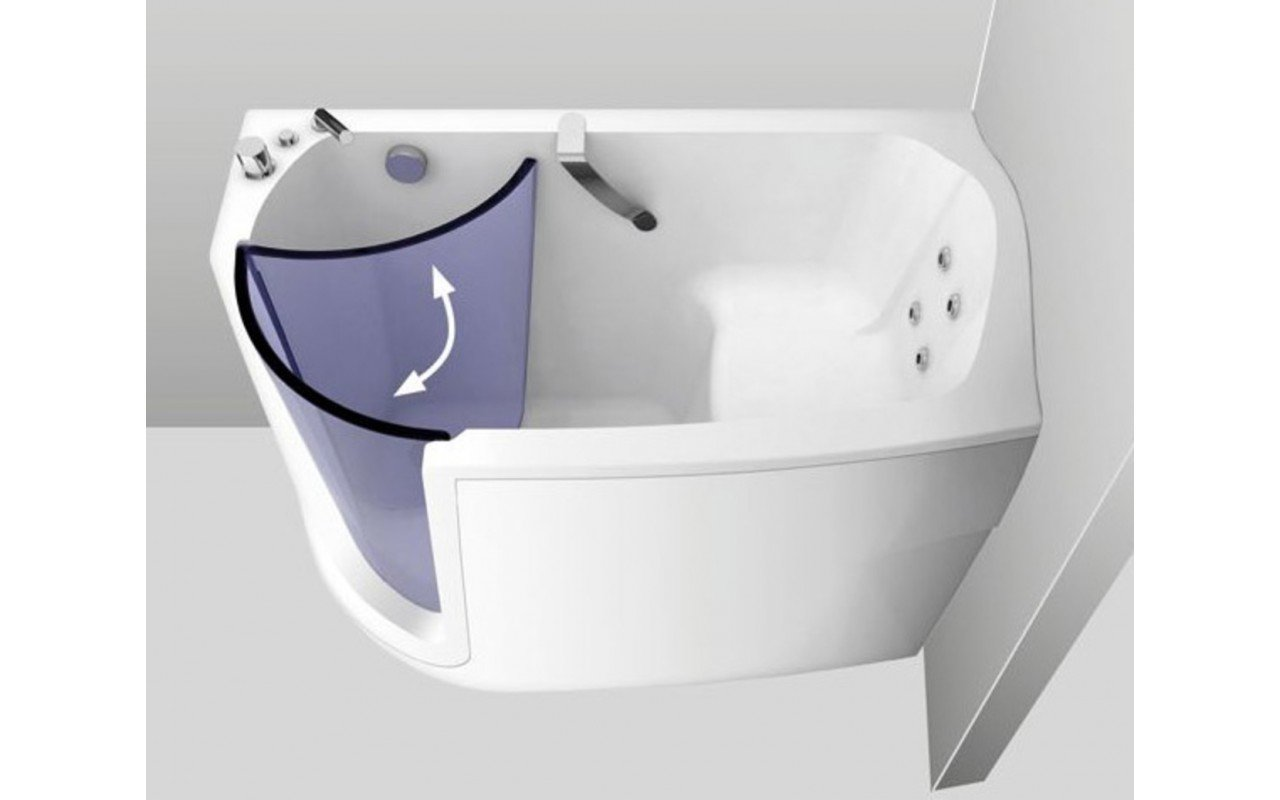 Baby Boomer L HydroRelax Jetted Walk In Bathtub web 03