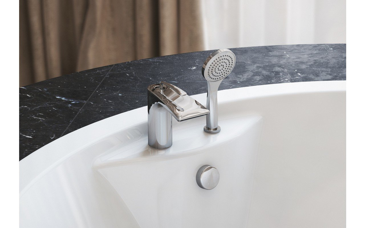 Aquatica Bollicine 2-Hole Deck Mounted Bath Filler (SKU-121) – Chrome picture № 0