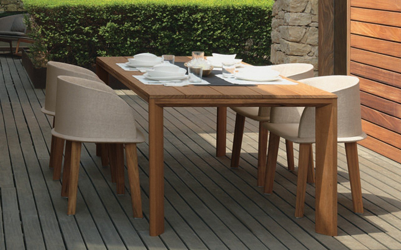Cleo Outdoor Iroko Wood Dinning Table by Talenti picture № 0