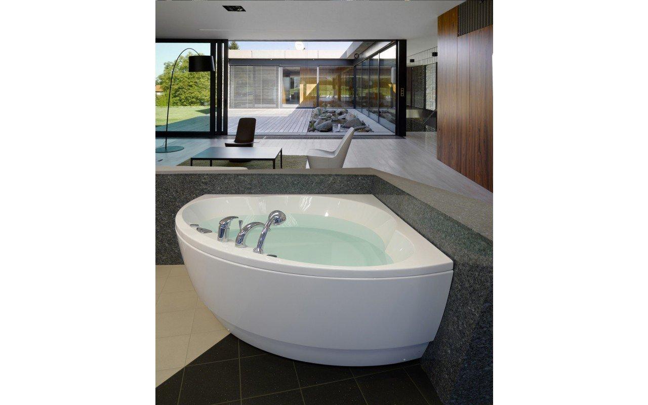 Cleopatra Corner Acrylic Bathtub by Aquatica web 2