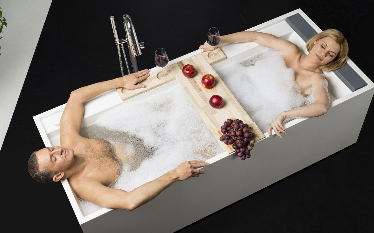 Daydreamer Rectangular Stone Bathtub 5