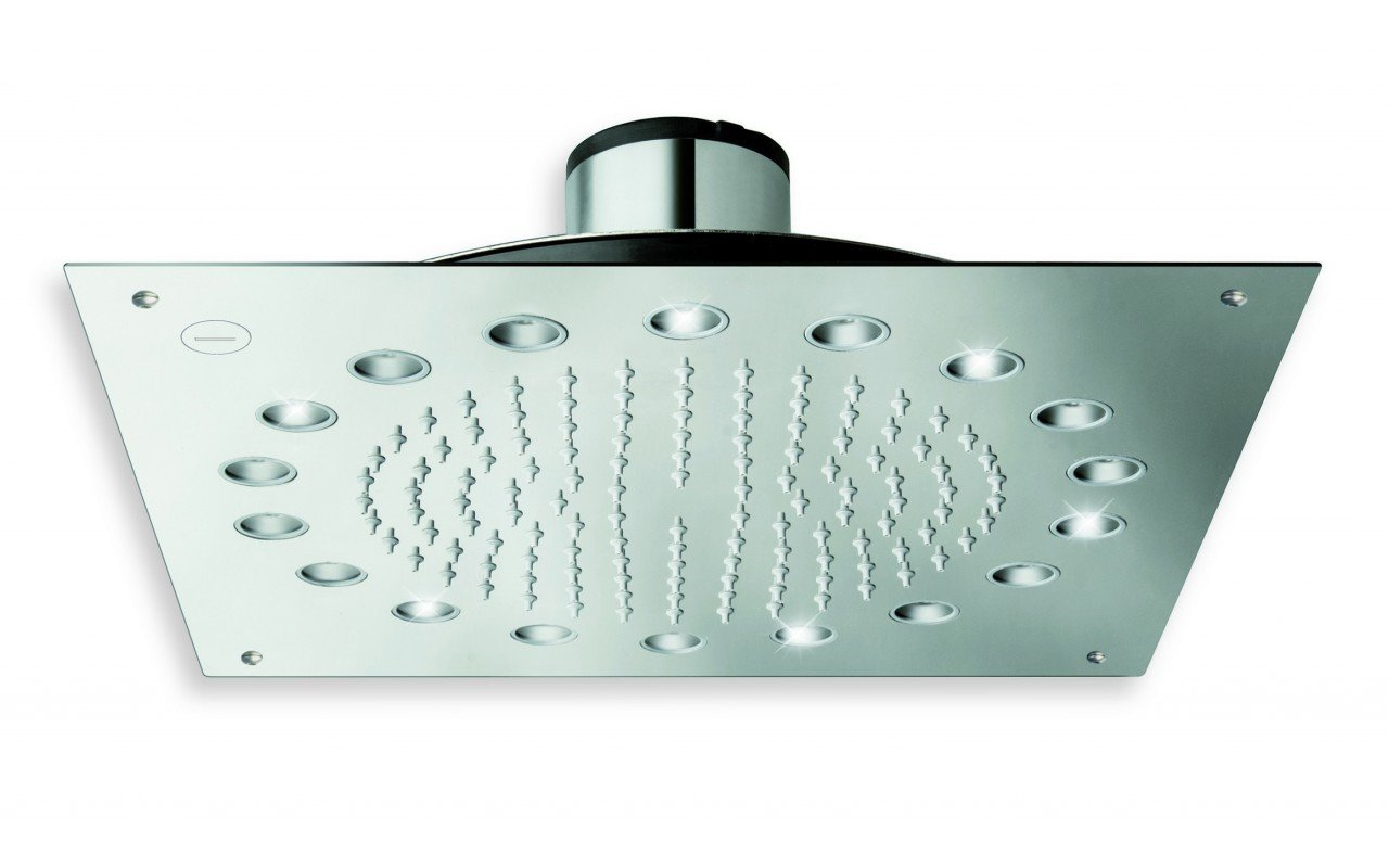 Dynamo Dynamic LED Hydropowered Ceiling Shower Head Chrome 1