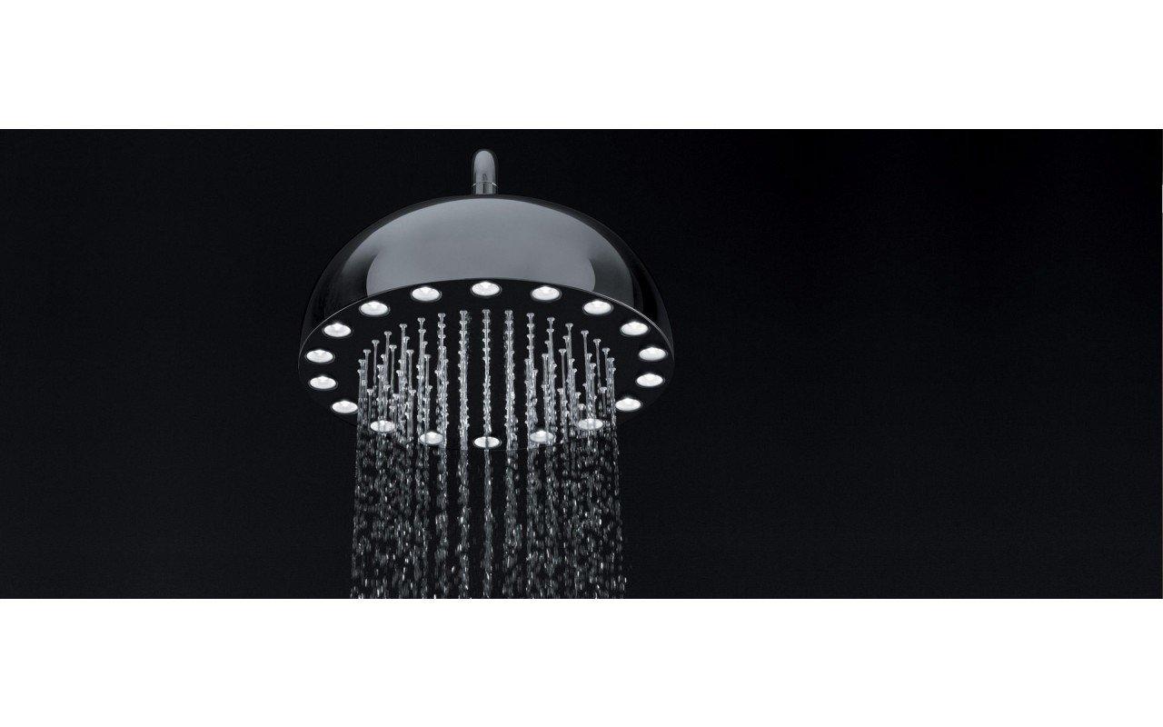 Dynamo Dynamic LED Hydro powered Round Shower Head Chrome 3