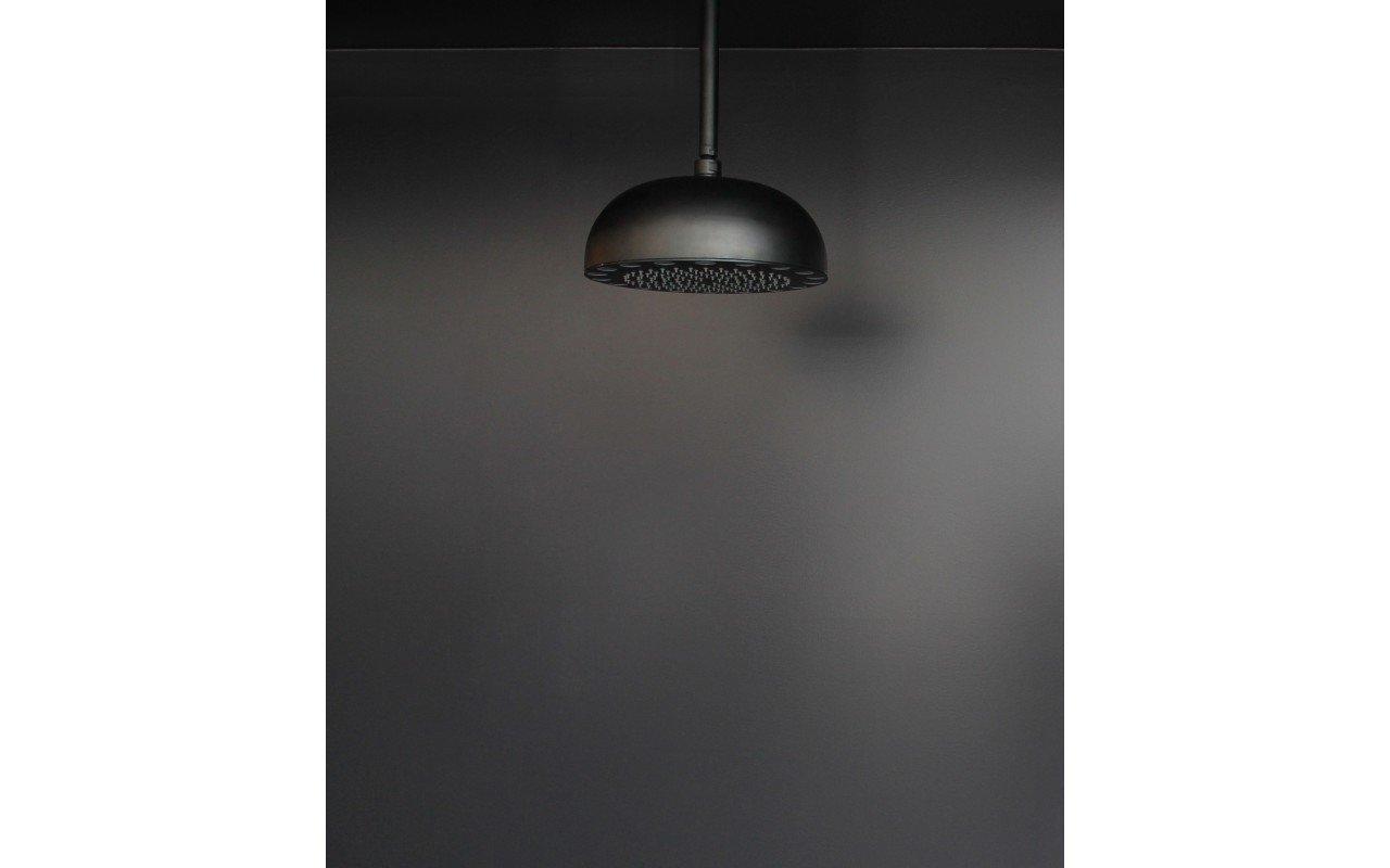 Dynamo Dynamic LED Round Shower Head Black Matte 1 web