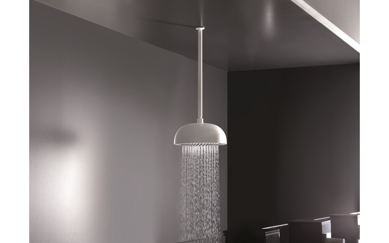 Dynamo Dynamic LED Round Shower Head White Matte 2 web