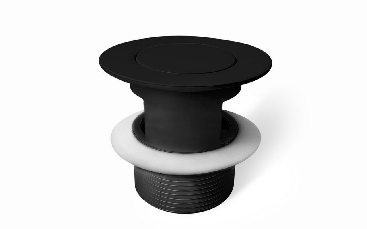 Euroflipper Blck Bathtub Drain (Black Matte) 02 (web)