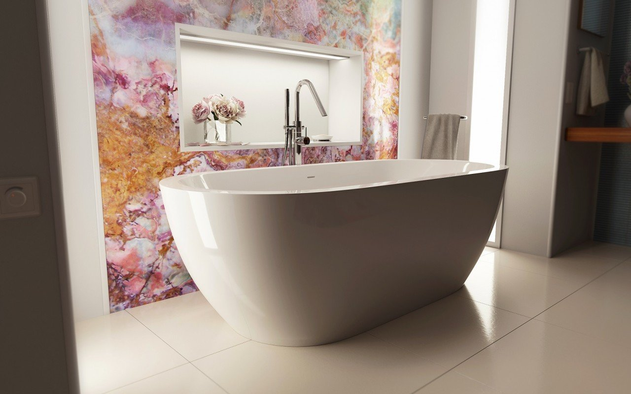 Gloria Wht Freestanding Acrylic Bathtub 5 web