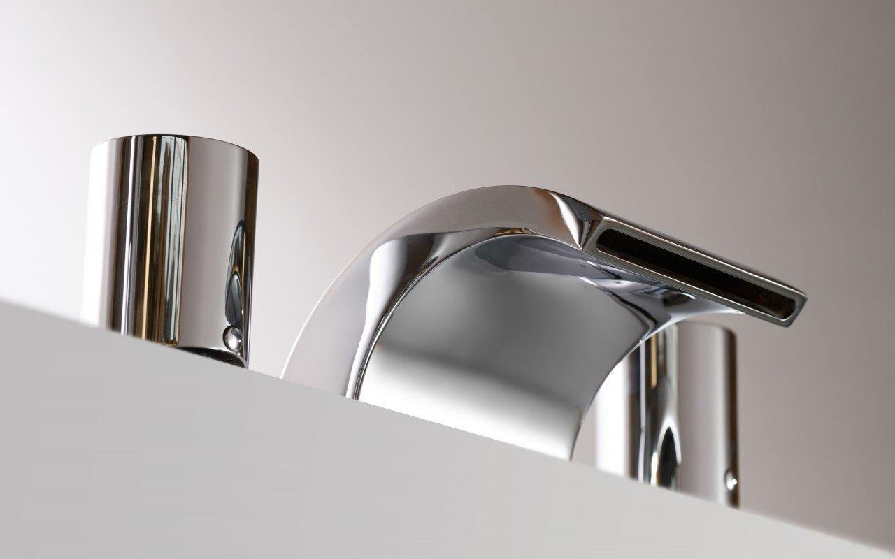 Aquatica Italia Waterfall 4-Hole Deck Mounted Tub Filler – Chrome picture № 0