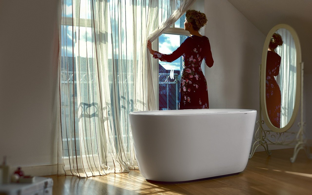 Lullaby Wht Small Freestanding Solid Surface Bathtub by Aquatica web 0131