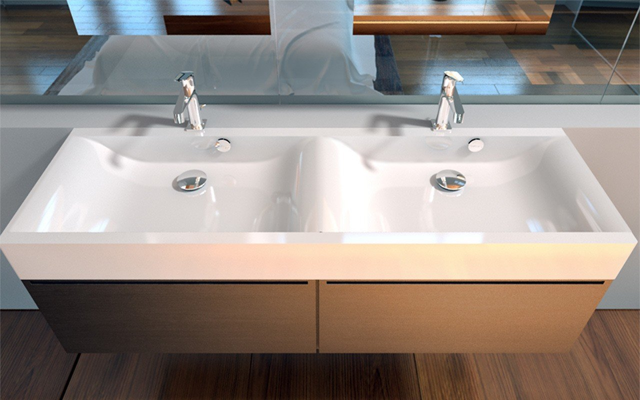 Maria Stone Wall Mounted Washbasin 150 2 02
