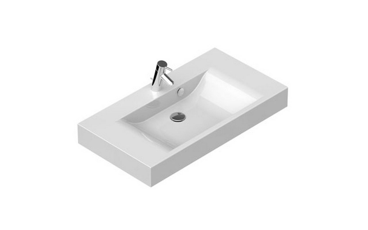 Maria 90 Stone Wall Mounted Washbasin 01