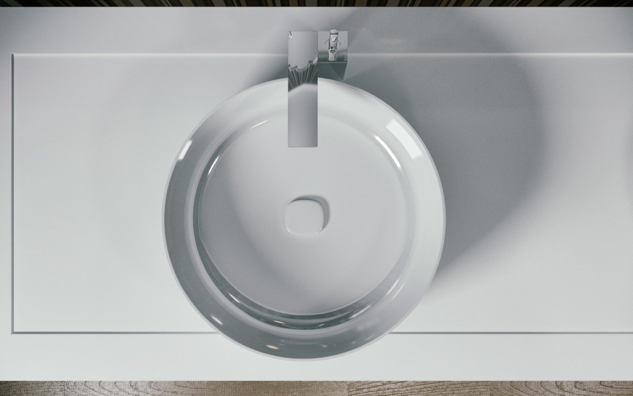 Metamorfosi Wht Round Ceramic Vessel Sink 3