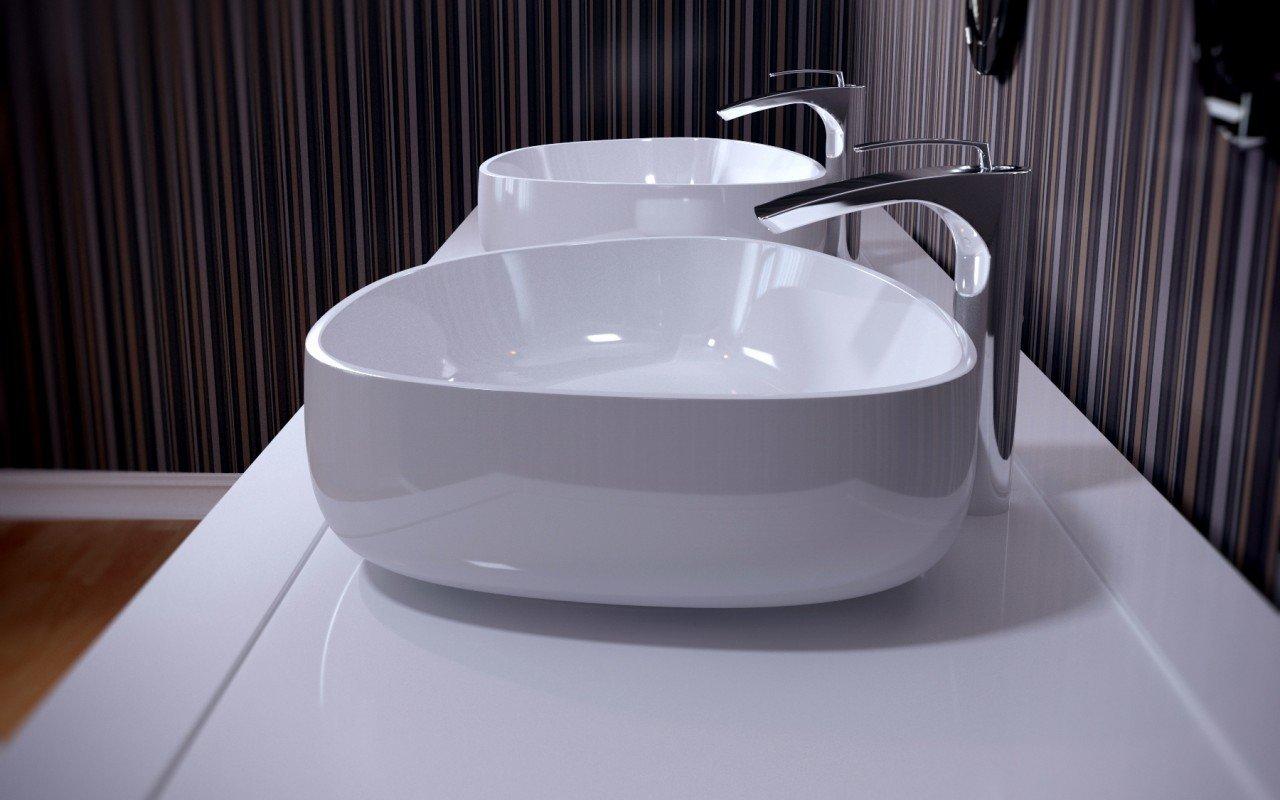 Metamorfosi Wht Shapeless Ceramic Bathroom Vessel Sink (1)
