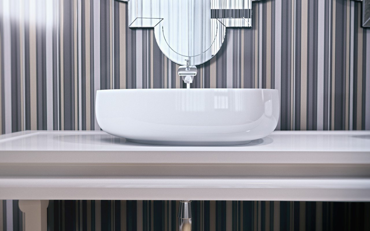 Metamorfosi Wht Shapeless Ceramic Bathroom Vessel Sink (4)