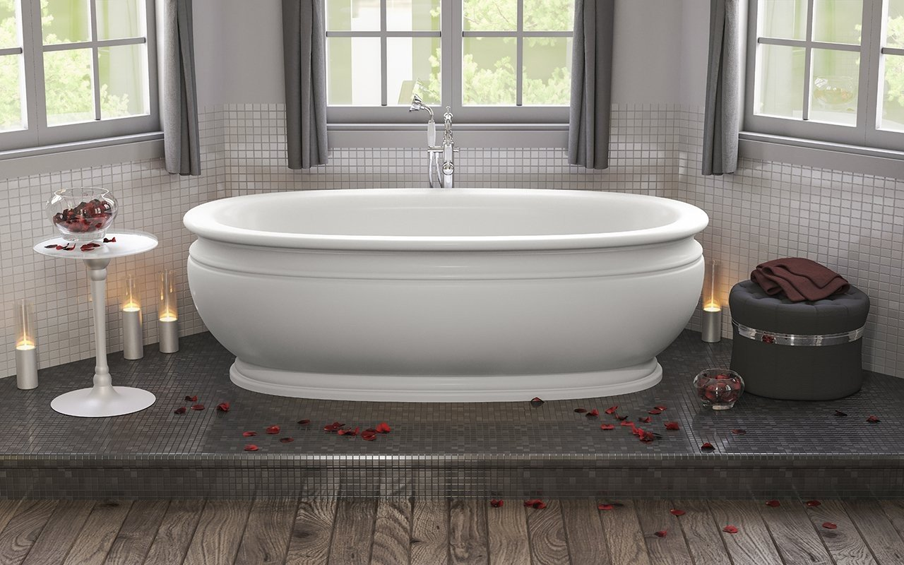 Olympian Roman Freestanding Solid Surface Bathtub 01 (web)