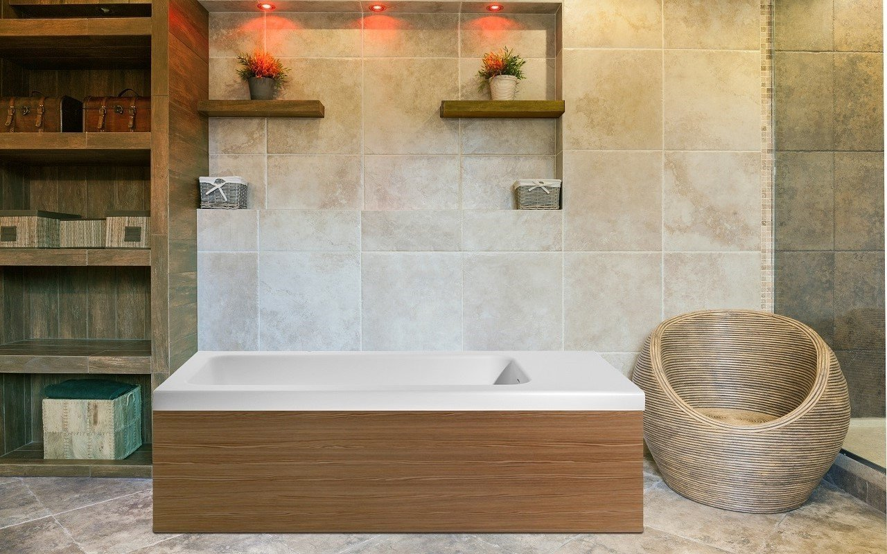 Pure 2L by Aquatica Back To Wall Stone Bathtub 1 web
