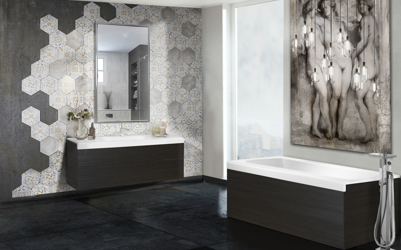 Pure 1d by aquatica back to wall stone bathtub with dark decorative wooden side panels 02 (web)