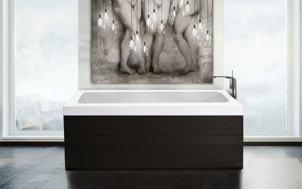 Pure 1d by aquatica back to wall stone bathtub with dark decorative wooden side panels 03 (web)