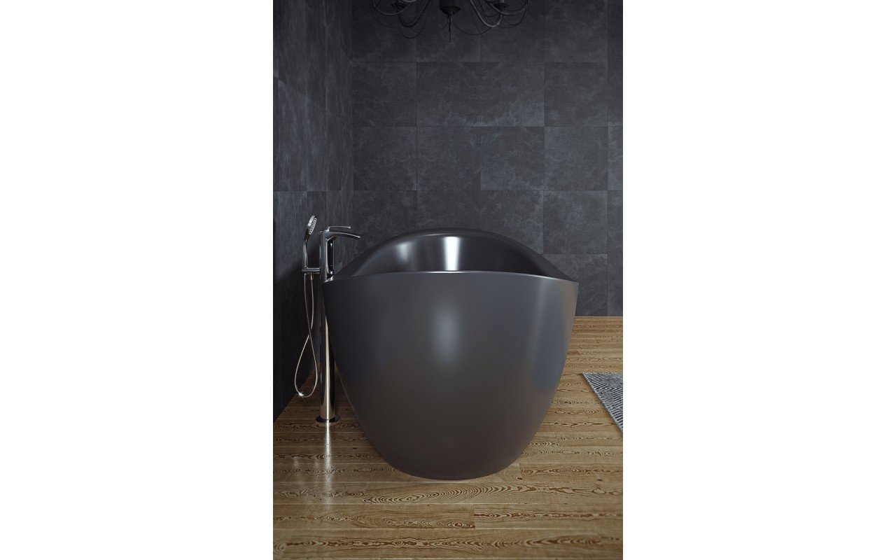 Purescape 171 Black Freestanding Slipper Bathtub web (5)