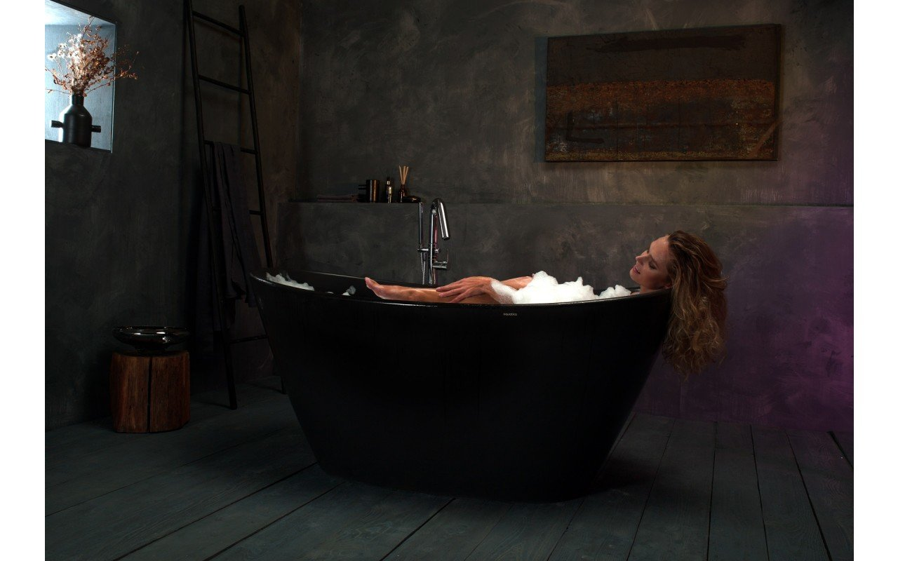 Purescape 748M Black Freestanding Stone Bathtub web (1)