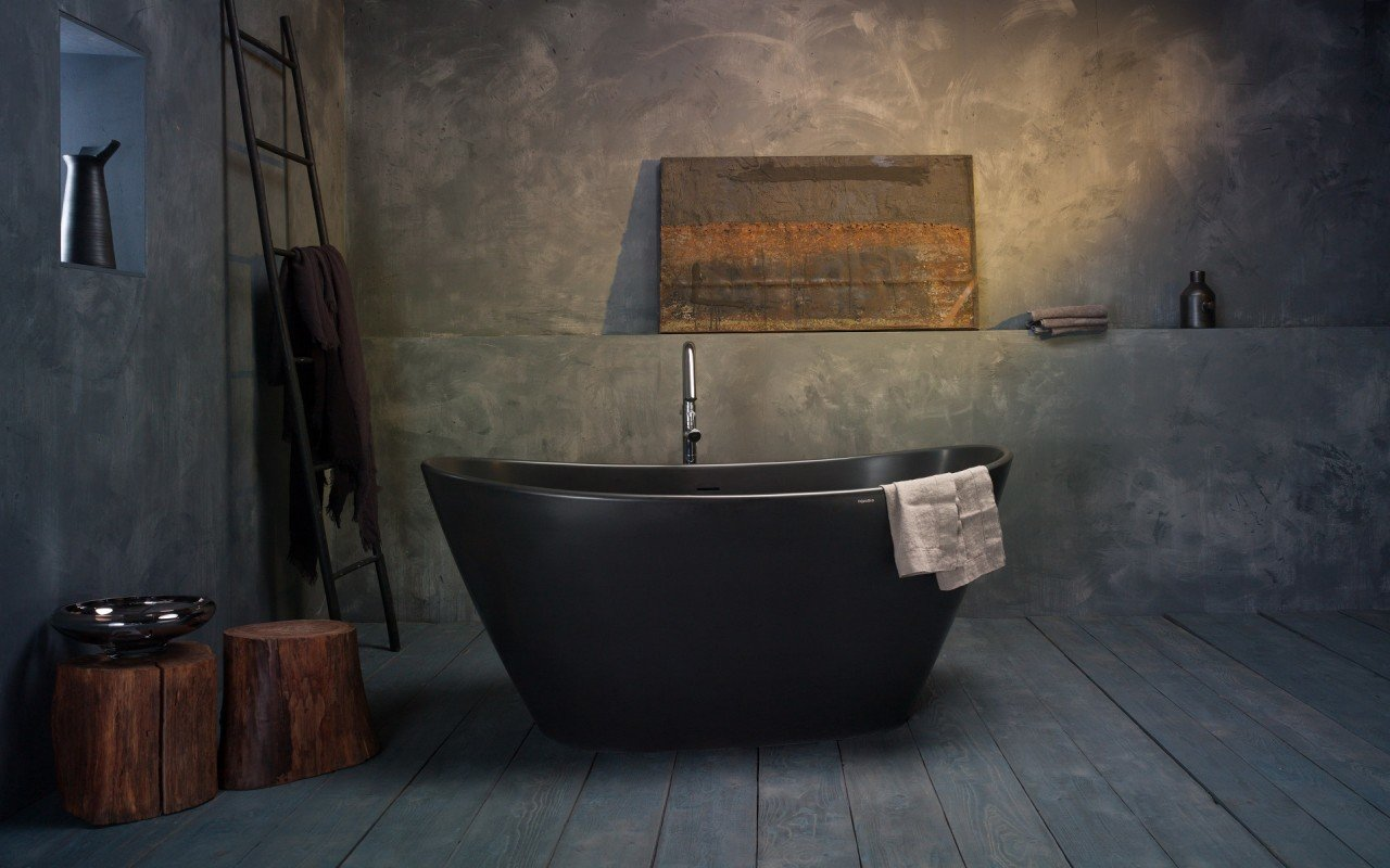 Purescape 748M Black Freestanding Stone Bathtub web (5)