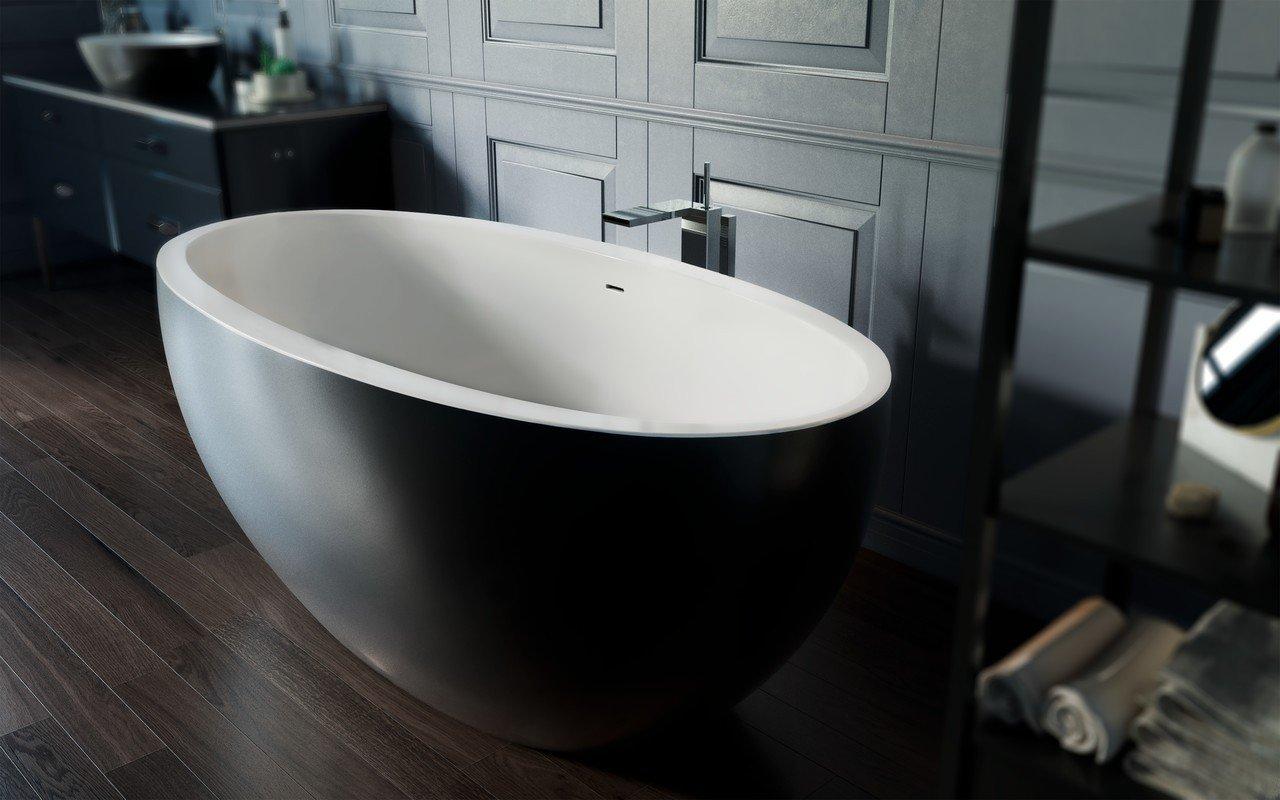 Sensuality mini f black wht freestanding stone bathtub by Aquatica 02 (web)